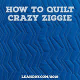 how to quilt crazy ziggie