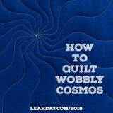 how to quilt wobbly cosmos
