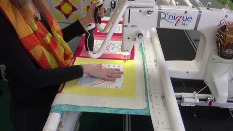 Machine basting your quilt