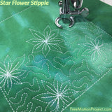 How to quilt Star Flower Stipple