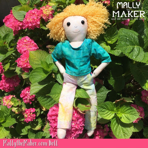 Mally the Maker Girl Doll Sewing Pattern