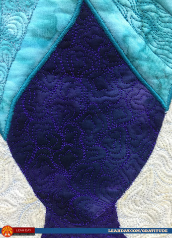 Heart Paisley quilting design