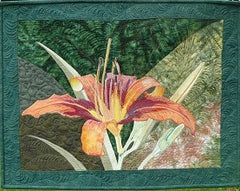 applique lilly quilt | no sewing until you quilt it