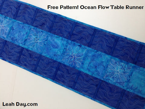 ocean flow table runner | quilt as you go quilt