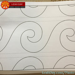 Pantograph Quilting Design Single Wave