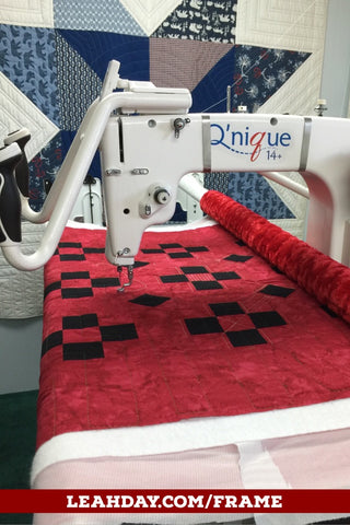 Longarm frame quilting