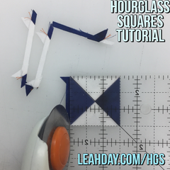 Hourglass Squares Piecing Tutorial