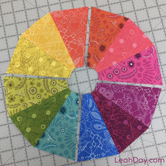 Piecing color wheel quilt block