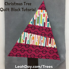 Wonky Christmas Trees Free Quilt Pattern By Leah Day Leahday Com