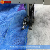 prepare a quilt for binding