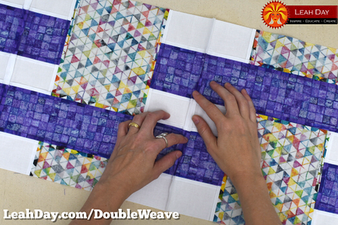 Pressing seams open | double basket weave