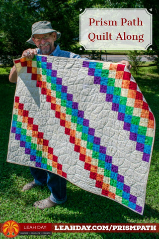 Prism Path walking foot baby quilt
