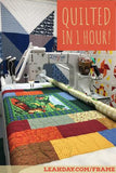 charity quilt quilted in one hour