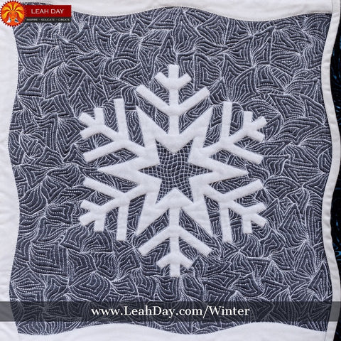 Winter Wonderland Quilt Pattern | Leah Day quilting