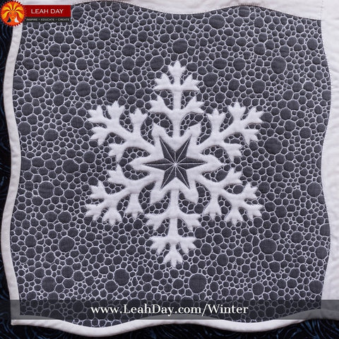 Winter Wonderland Quilt Pattern | how to quilt pebbling