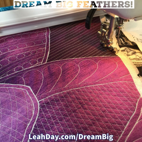 Quilting Feathers with Rulers Home Machine