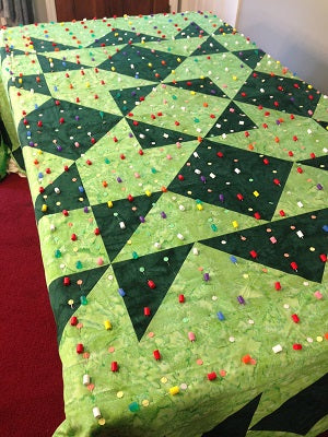 King size quilt on domestic machine