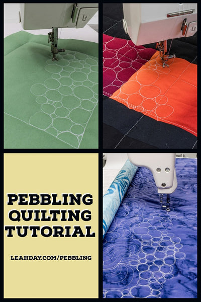 how to quilt pebbles | quilting tutorial