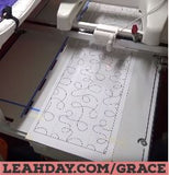 how to quilt with pantographs on a grace qzone hoop frame