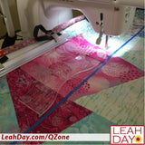 Ruler quilting on qzone hoop frame