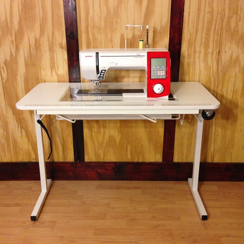 sewing craft room lowe furnishings boston furniture loft table tables desk s