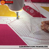ruler quilting on qnique longarm frame