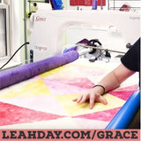 speed quilting on a longarm frame