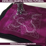 Swirling Hearts Quilting Tutorial