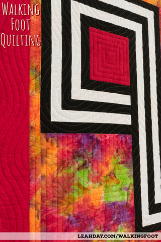 walking foot quilting | infinity knot quilt