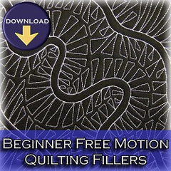 Beginner free motion quilting filler designs