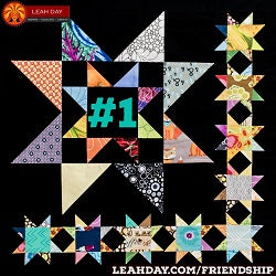 Friendship Sampler Quilt Along Block Scrappy Stars