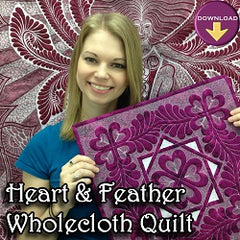 Heart and Feather Wholecloth Quilting Workshop
