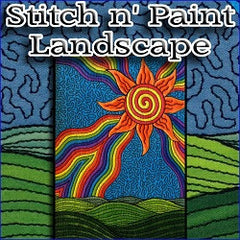 Stitch n Paint Landscape Embroidery
