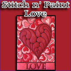 Stitch n Paint Love Embroidery