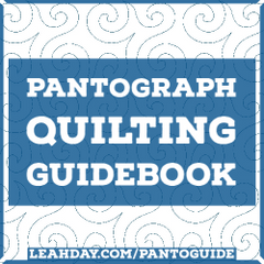 Pantograph Quilting Guidebook by Leah Day