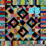 Friendship Sampler Quilt Along Block 5 Scrap Overload