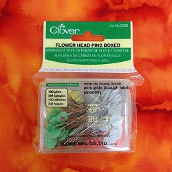 Clover flower head pins for quilt basting