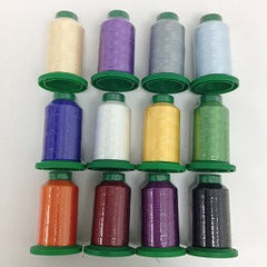 Isacord polyester embroidery thread set of 12 spools