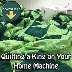 Quilting a king sized quilt on a home machine