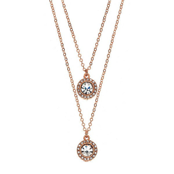 Seeing Double Necklace: Rose Gold