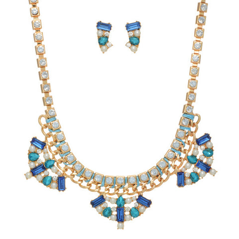 Blue Martini Necklace