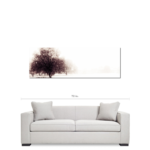 Alone in the Cold Fine Art Photography Panoramic 20 x 60 x 1.25 inch Premium Canvas Gallery Wrap - Sylvia Coomes