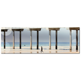 Boardwalk Canvas - Beach Home Decor - Panoramic Canvas - Geometric Art - Large Canvas - Blue Tan Canvas - 20 x 60 Canvas - Beach house - Sylvia Coomes