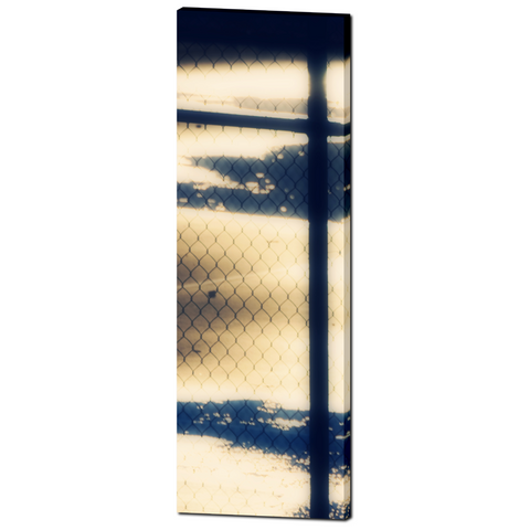 Metallic Photo - Abstract Art - Geometric Shapes - Blue Gold Colors - Home Decor - Tall Canvas - Fine Art - Large Canvas - 20 x 60 Canvas - Sylvia Coomes