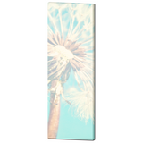 Baby Canvas Art - Baby Decor - Nursery Wall Art - Aqua Blue and White - Dandelion Canvas - Nursery Canvas - Flower Photo - 20 x 60 Canvas - Sylvia Coomes