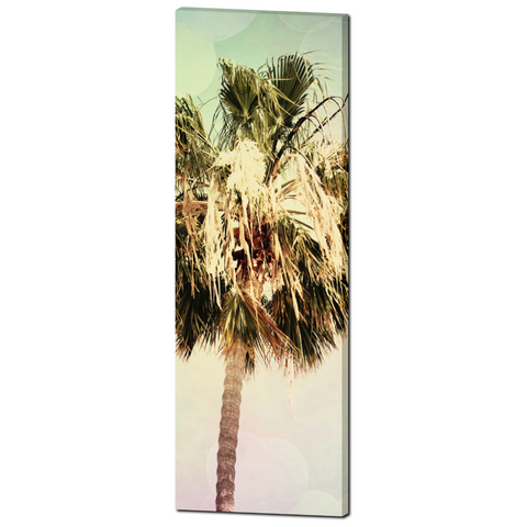 Palm Tree Canvas - Palm Tree Photography - Mint Green - Palm Tree Print - Palm Tree Art - Tall Canvas - Large Canvas - 20 x 60 Canvas - Sylvia Coomes