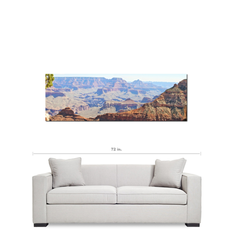 Grand Canyon Panoramic 2 Fine Art Photography Panoramic 20 x 60 x 1.25 inch Premium Canvas Gallery Wrap - Sylvia Coomes