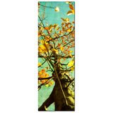 Autumn Tree Canvas - Large Canvas - Modern Canvas - Nature Canvas - Wall Art - Fall Tree Art - Orange Yellow - Aqua Blue - 20 x 60 Canvas - Sylvia Coomes