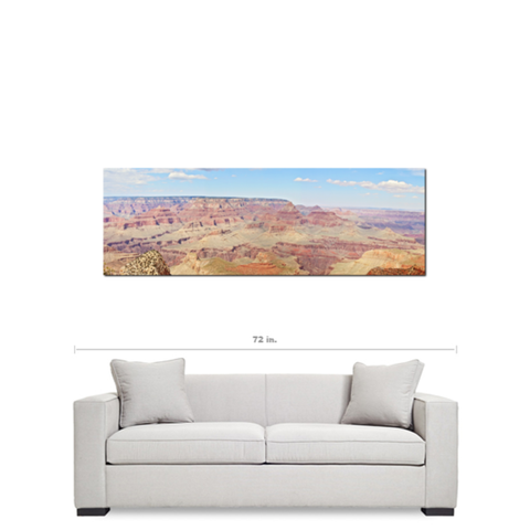 Grand Canyon Panoramic 1 Fine Art Photography Panoramic 20 x 60 x 1.25 inch Premium Canvas Gallery Wrap - Sylvia Coomes