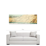 Ocean Beach Cliffs - Abstract Beach - Coastal Photograph - Panoramic Canvas - California Canvas - Beach Canvas - Large - 20 x 60 Canvas - Sylvia Coomes